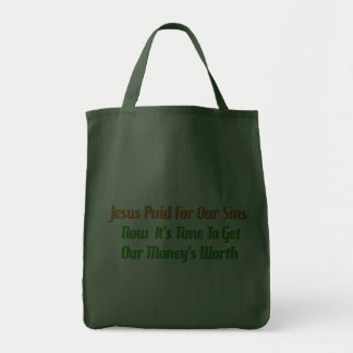 Pecado pagado por adelantado bolsa tela para la compra