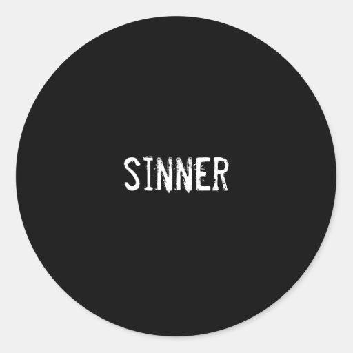 pecador pegatina redonda