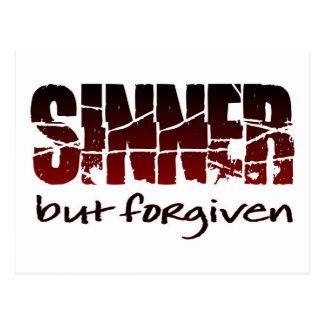 Pecador pero perdonado tarjeta postal