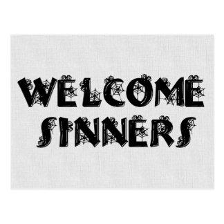 ¡Pecadores agradables! Postal