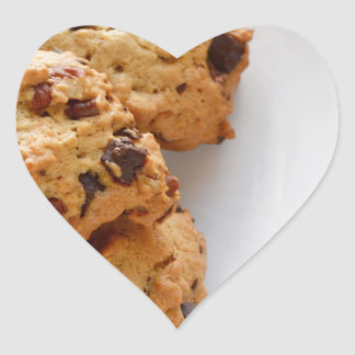 Pecan biscuits heart sticker