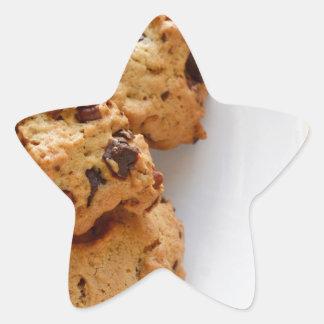 Pecan biscuits star sticker