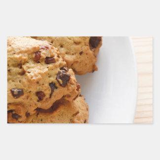 Pecan chocolate chip cookies rectangular sticker
