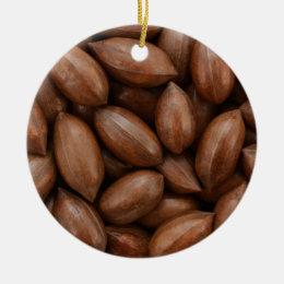 Pecan nuts ceramic ornament