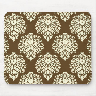 Pecan Southern Cottage Damask Mouse Pad