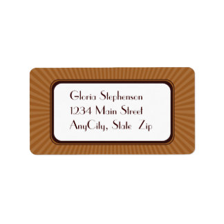 Pecan Spring Rays Address Labels
