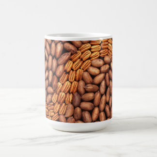 Pecans in a design coffee mugs