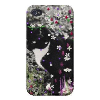 Pecas en flores I - gato de Tux iPhone 4 Carcasa