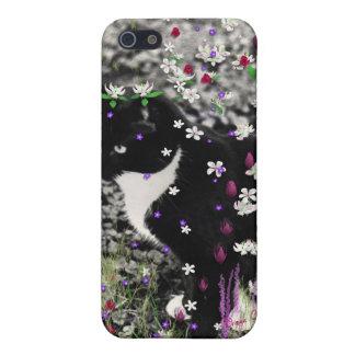 Pecas en flores I - gato de Tux iPhone 5 Fundas