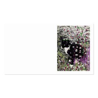 Pecas en flores I - gato de Tux Tarjetas De Visita