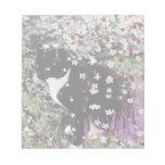 Pecas en flores I - gato del gatito de Tux Bloc De Papel