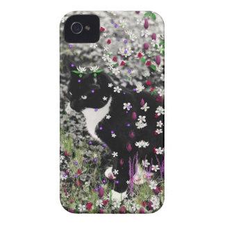 Pecas en flores I - gato del gatito de Tux Case-Mate iPhone 4 Cobertura