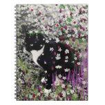 Pecas en flores I - gato del gatito de Tux Libros De Apuntes Con Espiral