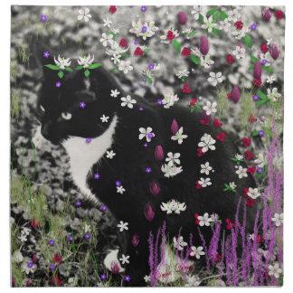 Pecas en flores I - gato del gatito de Tux Servilletas Imprimidas
