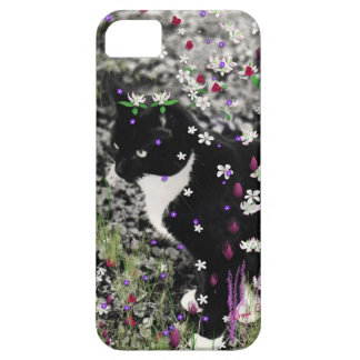 Pecas en flores I - gato del gatito del smoking Funda Para iPhone 5 Barely There