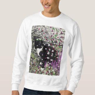 Pecas en flores I - gato del gatito del smoking Sudaderas Encapuchadas