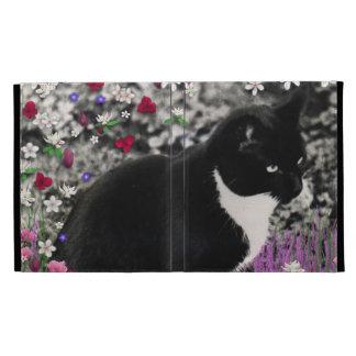 Pecas en flores II - gatito blanco negro del smoki