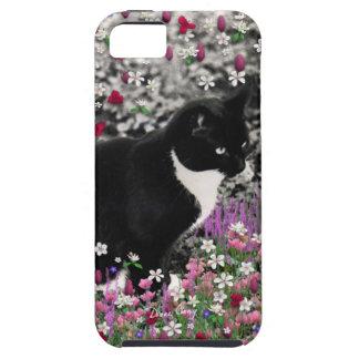 Pecas en flores II - gato blanco y negro de Tux iPhone 5 Carcasa