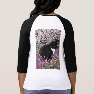 Pecas en flores II - gato del gatito de Tux Camiseta