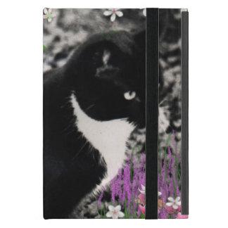 Pecas en flores II, gato del gatito del smoking iPad Mini Cobertura