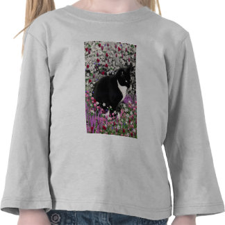 Pecas en flores II - gato del gatito del smoking Camiseta