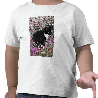 Pecas en flores II - gato del gatito del smoking Camisetas