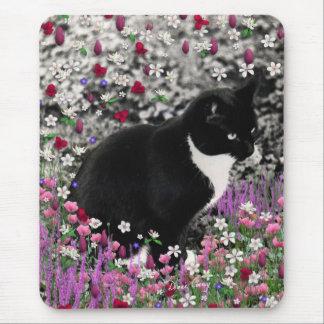 Pecas en flores II - gato del gatito del smoking Tapete De Raton
