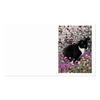 Pecas en flores II - gato del gatito del smoking Plantilla De Tarjeta De Negocio