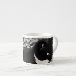 Pecas en flores II - gato del gatito del smoking Taza Espresso