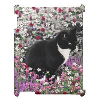 Pecas en flores II - gato del smoking