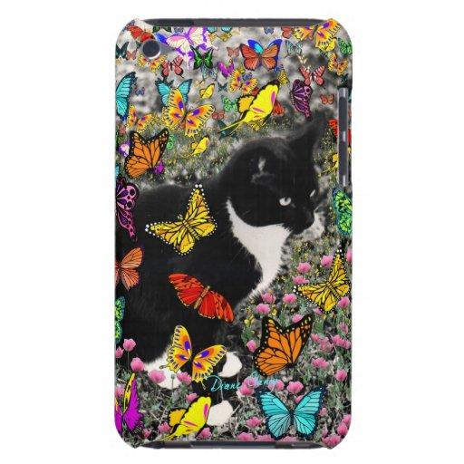 Pecas en las mariposas - gatito del smoking Case-Mate iPod touch cárcasa