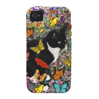 Pecas en las mariposas - gatito del smoking vibe iPhone 4 funda