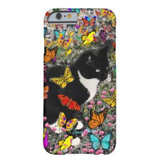 Pecas en las mariposas - gatito del smoking funda de iPhone 6 barely there