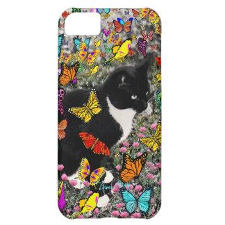 Pecas en las mariposas - gatito del smoking funda para iPhone 5C