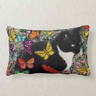Pecas en las mariposas - gato del gatito de Tux Almohadas