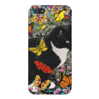 Pecas en las mariposas - gato del gatito de Tux iPhone 5 Carcasas