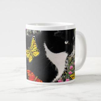 Pecas en las mariposas - gato del gatito de Tux Taza Jumbo