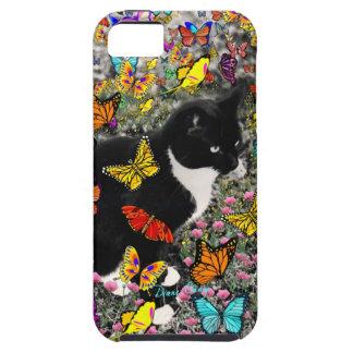 Pecas en las mariposas - negras y el gato blanco iPhone 5 fundas