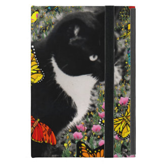 Pecas en mariposas I, gato del gatito de Tux iPad Mini Fundas