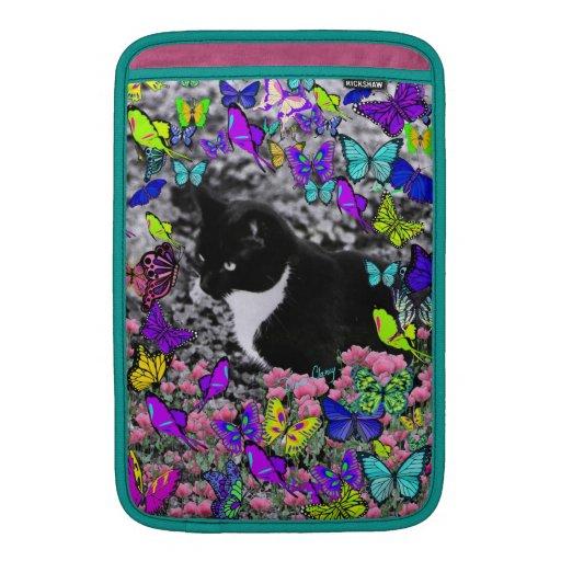 Pecas en mariposas II - gatito blanco negro de Tux Funda Para Macbook Air