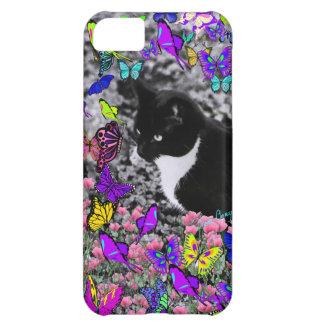 Pecas en mariposas II - gato del gatito de Tux Funda Para iPhone 5C