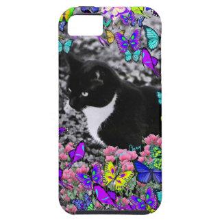 Pecas en mariposas II - gato del gatito de Tux iPhone 5 Funda
