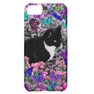 Pecas en mariposas II - gato del smoking Funda Para iPhone 5C