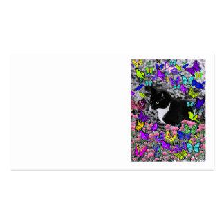 Pecas en mariposas II - gato del smoking Plantilla De Tarjeta De Visita