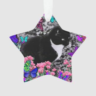 Pecas en mariposas III, gato del gatito de Tux