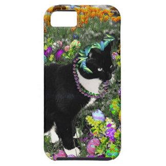 Pecas, gato de Tux, en la caza para los huevos de iPhone 5 Carcasas