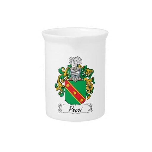 Pecci Family Crest Beverage Pitchers
