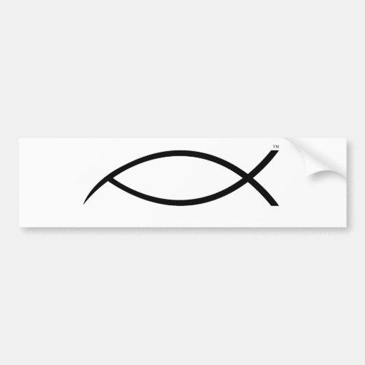peces espadas de Jesús ninguna copia Pegatina Para Auto