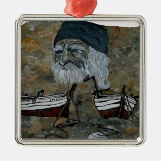 PECHEUR.png OLD MAN Metal Ornament