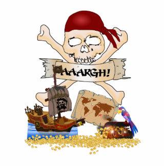Pecho alegre de Rogelio, del barco pirata y del Fotoescultura Vertical